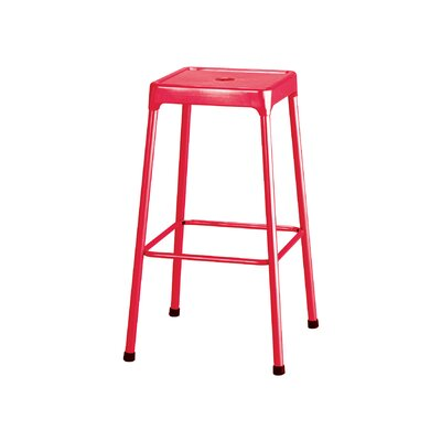 Shop Bar Stool Color: Red