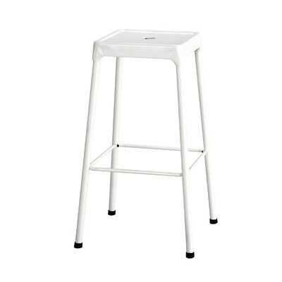 Shop Bar Stool Color: White