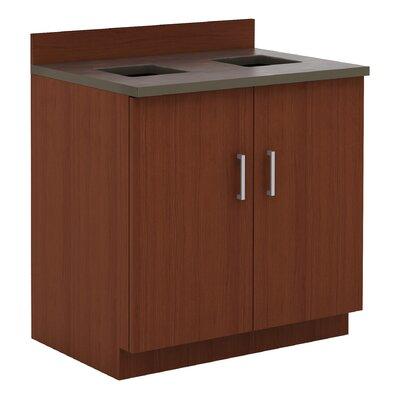 Modular Cabinetry 36 H x 36 W Desk File Pedestal Finish: Mahogany/Rustic Slate