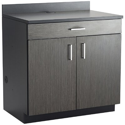 Modular Cabinetry 36 H x 36 W Desk File Pedestal Finish: Asian Night/Black