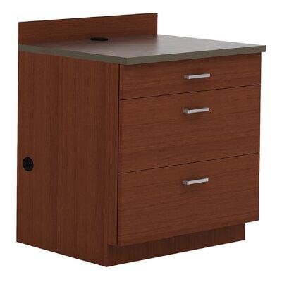 36 H x 36 W Desk File Pedestal Finish: Mahogany/Rustic Slate