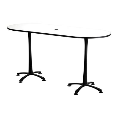 Cha-Cha Oval Conference Table Top Finish: Designer White, Size: 42 H x 42 W x 84 D