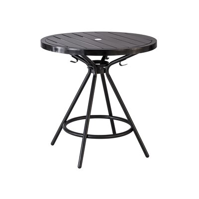 CoGo Round Dining Table Finish: Black, Size: 30 W x 30 L