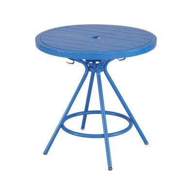 CoGo Round Dining Table Finish: Blue, Size: 30 W x 30 L