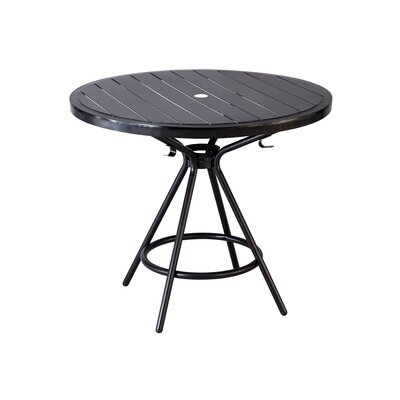 CoGo Round Dining Table Finish: Black, Size: 36 W x 36 L