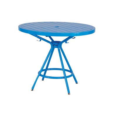 CoGo Round Dining Table Finish: Blue, Size: 36 W x 36 L