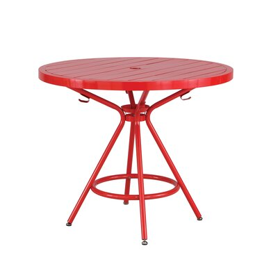 CoGo Round Dining Table Finish: Red, Size: 36 W x 36 L