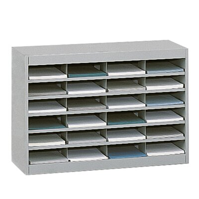 Literature Organizer with 24 Letter-Size Compartments Finish: Gray