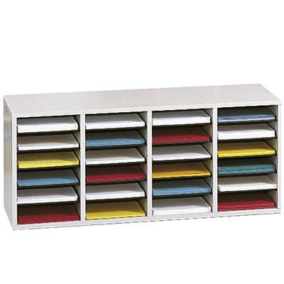 Medium Adjustable-Compartment Literature Organizer Finish: Gray