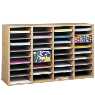 Safco Adjustable Compartment Wood Literature Orga Literature Sorter Finish: Oak