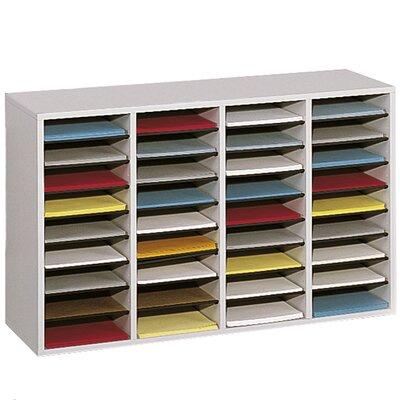 Safco� Adjustable Compartment Wood Literature Orga Literature Sorter Finish: Gray