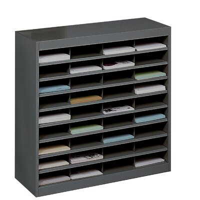 Literature Organizer with 36 Letter-Size Compartments Finish: Black