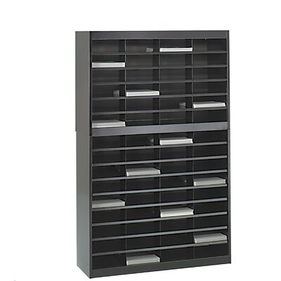 Literature Organizer with 60 Letter-Size Compartments Finish: Black