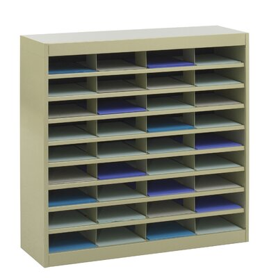Literature Organizer with 36 Letter-Size Compartments Finish: Tropic Sand