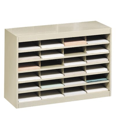 Literature Organizer with 24 Letter-Size Compartments Finish: Tropic Sand