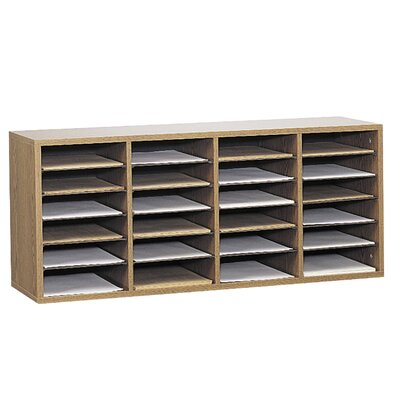 Medium Adjustable-Compartment Literature Organizer Finish: Oak