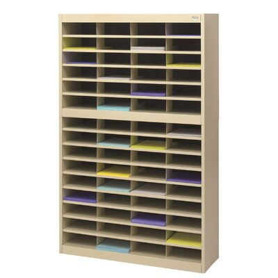 Literature Organizer with 60 Letter-Size Compartments Finish: Tropic Sand
