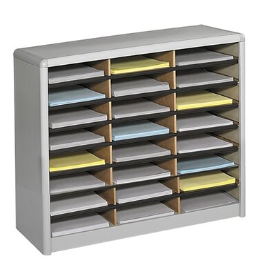 Value Sorter Organizer with 24 Compartments Finish: Gray
