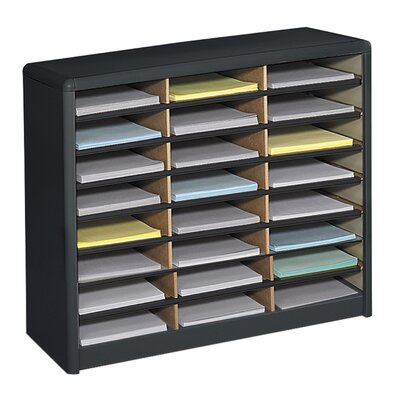 Value Sorter Organizer with 24 Compartments Finish: Black
