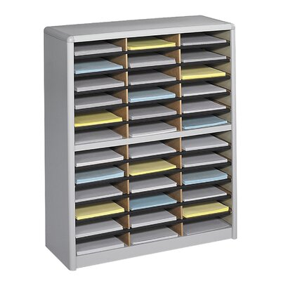 Value Sorter Organizer with 36 Compartments Finish: Gray