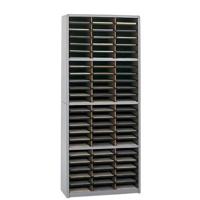 Value Sorter Organizer with 72 Compartments Finish: Gray