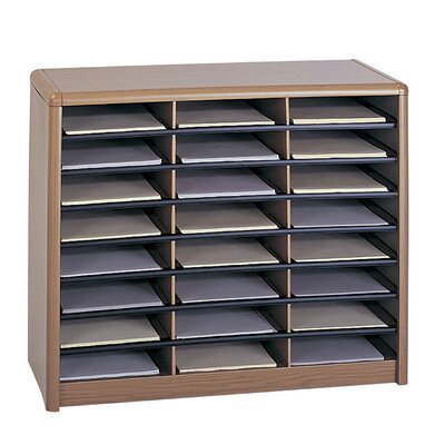 Value Sorter Organizer with 24 Compartments Finish: Medium Oak