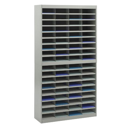 Literature Organizer with 72 Letter-Size Compartments Finish: Gray