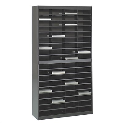 Literature Organizer with 72 Letter-Size Compartments Finish: Black