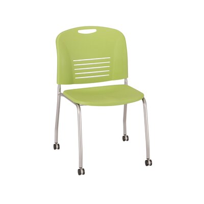 Vy Stack Chair Seat Color: Green