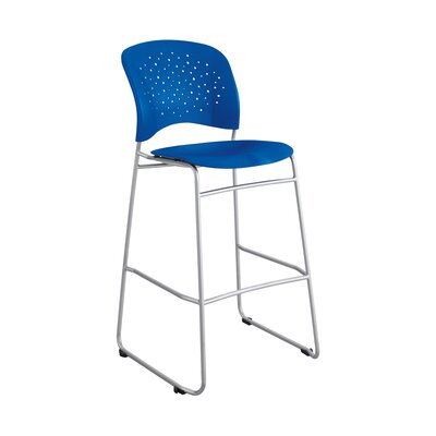 Reve Series Bistro Guest Chair Seat Color: Blue