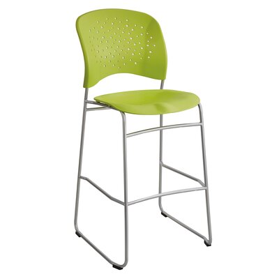 Reve Series Bistro Guest Chair Seat Color: Green