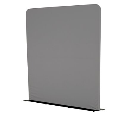 "Adapt™ Rectangle Space Screen 1 Panel Room Divider, 90"" x 61"" Color: Charcoal"