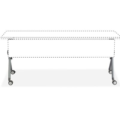 Tango Training Table Base Size: 6 H x 42 W x 26.5 D, Finish: Silver