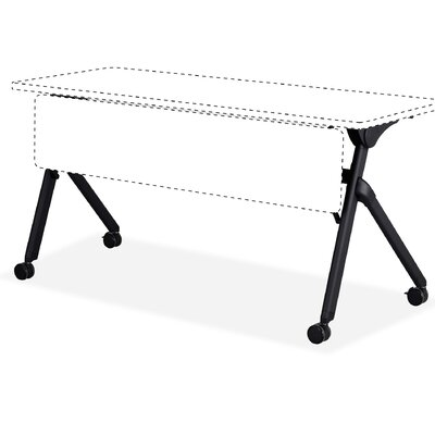 Tango Training Table Base Finish: Black, Size: 6 H x 45 W x 26.5 D
