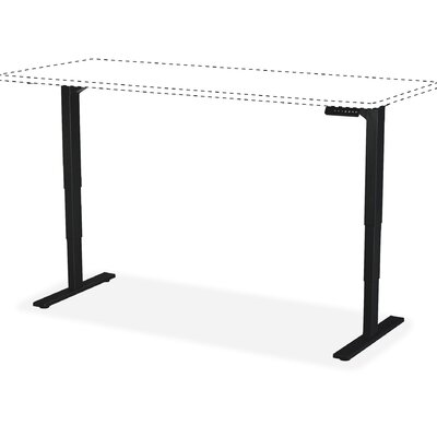 Electric Adjustable Training Table Base Finish: Black