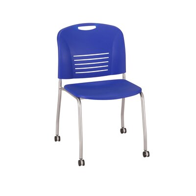 Vy Stack Chair Seat Color: Blue