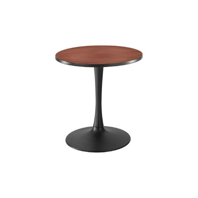 Cha Cha Round Gathering Table Size: 42 Diameter, Top Finish: Fashion Gray, Base Finish: Metallic Silver Gray
