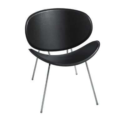 Sy Leather Guest Chair Color: Black