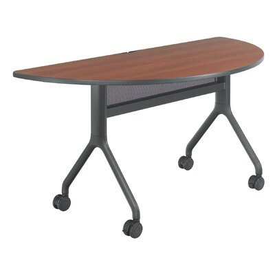 Rumba Training Table with Wheels Tabletop Finish: Cherry, Base Finish: Black, Size: 60 x 30
