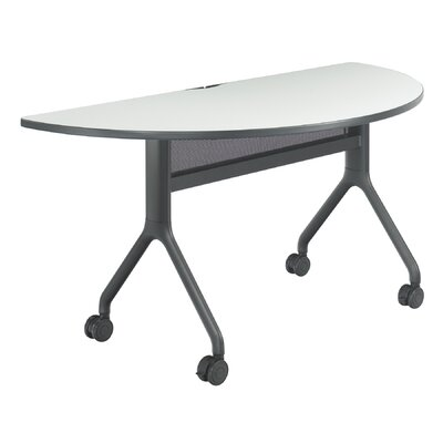 Rumba Training Table with Wheels Tabletop Finish: Gray, Base Finish: Black, Size: 60 x 30