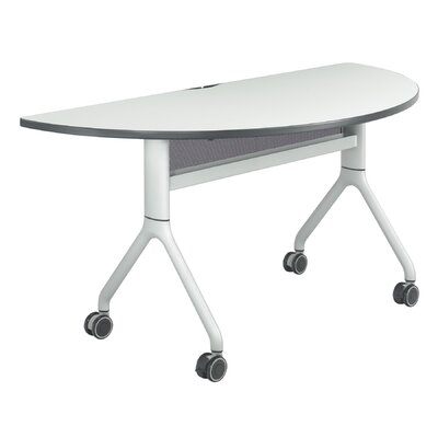 Rumba Training Table with Wheels Base Finish: Metallic Gray, Size: 48 x 24, Tabletop Finish: White