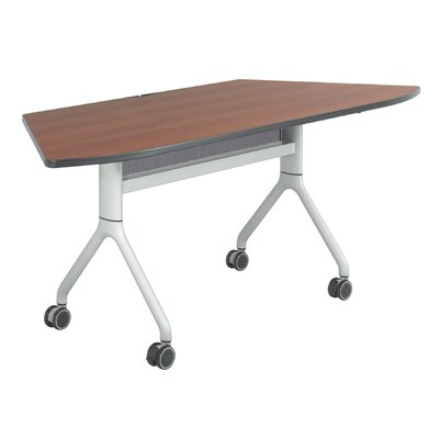 Rumba Training Table with Wheels Tabletop Finish: Cherry, Base Finish: Metallic Gray, Size: 60 x 24