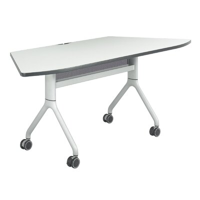 Rumba Training Table with Wheels Tabletop Finish: Gray, Base Finish: Metallic Gray, Size: 72 x 30