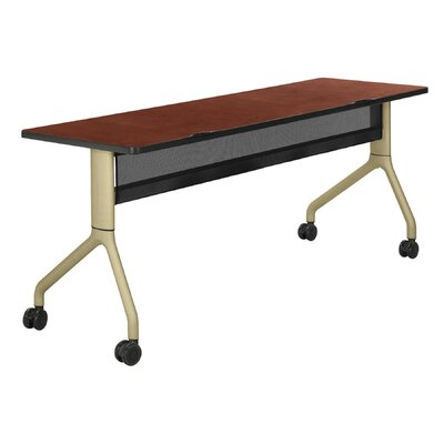 Rumba? Training Table Base Finish: Metallic Gray, Top Finish: Gray Product Image 2226