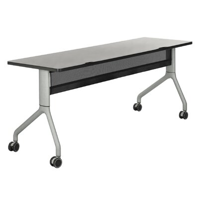Rumba Training Table with Wheels Base Finish: Metallic Gray, Tabletop Finish: Gray, Size: 60 x 30