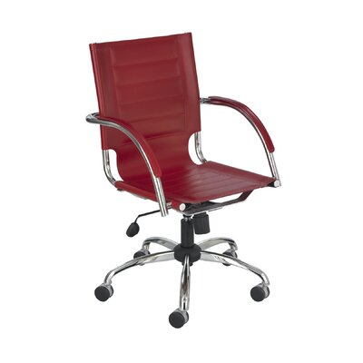 Flaunt Series Mid-Back Executive Chair Color: Red Product Photo 317