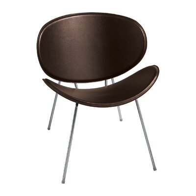 Sy Leather Guest Chair Color: Brown