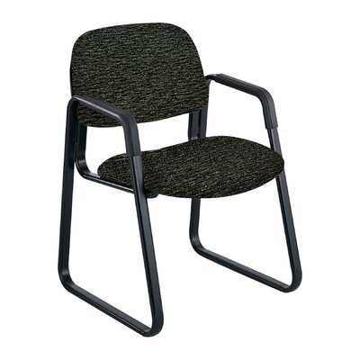 Cava Urth Guest Chair Color: Black, Frame Type: Sled Base