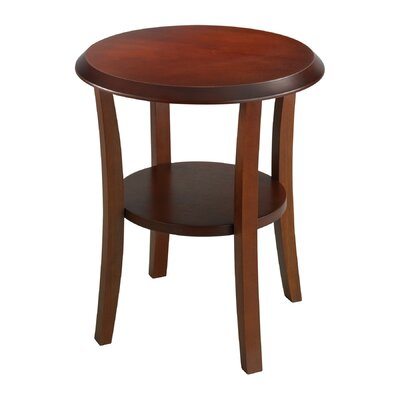 Buy low price safco products round wood end table color for Light wood side table