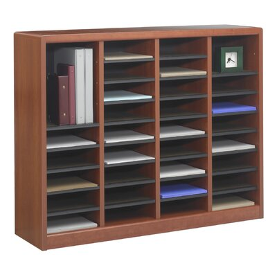 E-Z Store Wood 32 1/2 Literature Organizer Finish: Mahogany Product Image 44